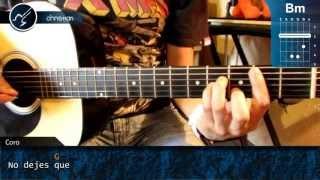 "Cómo Tocar ""No Dejes Que"" De Caifanes En Guitarra Acústica (HD) Acordes - Christianvib"