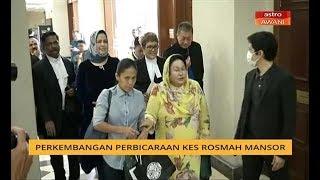 Perbicaraan rasuah terhadap isteri bekas perdana menteri, Datin Seri Rosmah Mansor, berhubung dakwaan penyalahgunaan dana bagi pembekalan dan pemasangan tenaga solar melibatkan 369 sekolah luar bandar di Sarawak memasuki hari kedua, hari ini. Prosiding perbicaraan baharu sahaja bermula pada pukul 10 pagi tadi. Dan untuk perkembangan setakat jam ini, kita bersama rakan setugas Hasimi Muhamad yang kini berada di Mahkamah Tinggi Kuala Lumpur.  SUBSCRIBE to NJOI AWANI: https://www.youtube.com/user/njoiawani?sub_confirmation=1  Visit http://www.astroawani.com for more news Astro AWANI LIVE http://www.astroawani.com/videos/live  Social Media: FACEBOOK https://www.facebook.com/astroawani TWITTER https://twitter.com/501Awani INSTAGRAM https://www.instagram.com/501awani  #AstroAWANI #BuletinAWANI #BeritaTerkini #BeritaSemasa #AWANI745 #BeritaMalaysia #AWANISarawak #BeritaUtamaHariIni