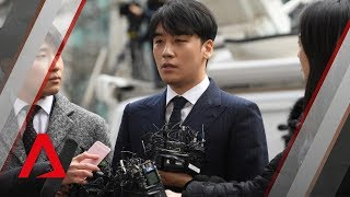 K pop stars Jung Joon young, Seungri arrive at police station for questioning