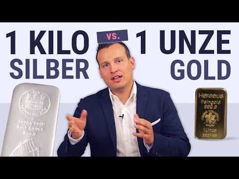 Gold oder Silber? ⭐ 1 kg Silberbarren gegen 1oz Goldbarren ⭐