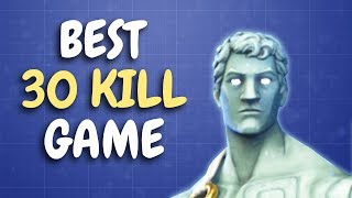 My best 30 kill game | Solo vs Squad (Fortnite)