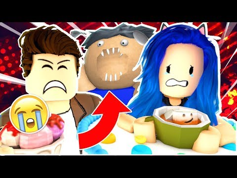 DON'T EAT US!! ESCAPE THE FAT MAN IN ROBLOX!