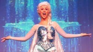 "Anna, Elsa & Kristoff ""Let it Go"" at Disney's FROZEN Sing Along Show Finale - Summer Fun, Front Row"