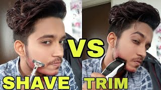 SHAVING VS TRIMMING | Hindi | Which Is Best For Your Skin | Should You Shave Or Trim ?