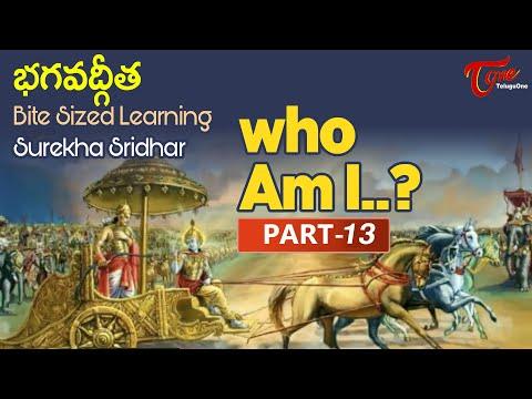 Who Am I? | Part #13 | BHAGAVADGITA Bite Sized Learning | Surekha Sridhar | BhaktiOne