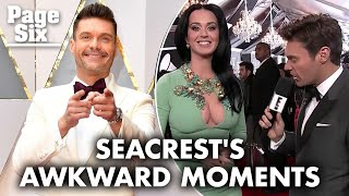 Ryan Seacrest's most memorable and awkward red carpet moments | Page Six Celebrity News