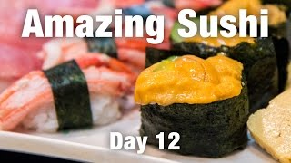 BEST Sushi So Far In Osaka and a Quick Visit to Nara - Japanese Food Travel in Osaka! - Video Youtube