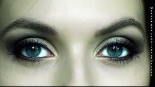 Смотреть онлайн Вечерний макияж для серых и голубых глаз пошагово