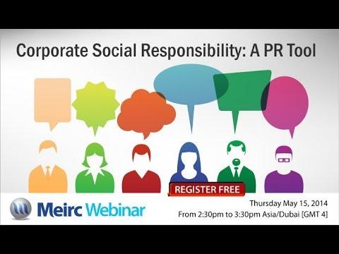 Corporate Social Responsibility A PR Tool   Public Relations   Dubai ...