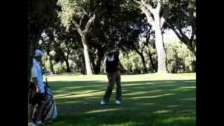 Anthony Wall Golf Swing in Slow Motion (Face On)