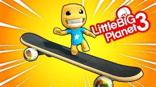 Kick The Buddy Skateboard Extreme - LittleBigPlanet 3 PS4 Gameplay