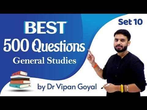 Best 500 Questions General Studies ISet 10 | Dr Vipan Goyal I Finest MCQs for all exams