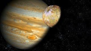 Полет на Юпитер HD Газовый гигант и его Спутники