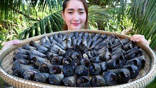 Yummy Sea Snail Curry Cooking - Sea Snail Curry - Cooking With Sros