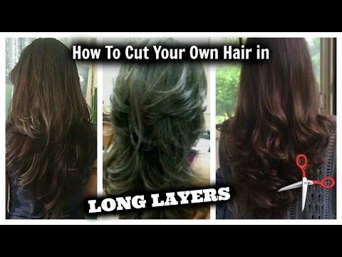 How I Cut My Hair In Layers At Home Long Layered Hair Cut Diy