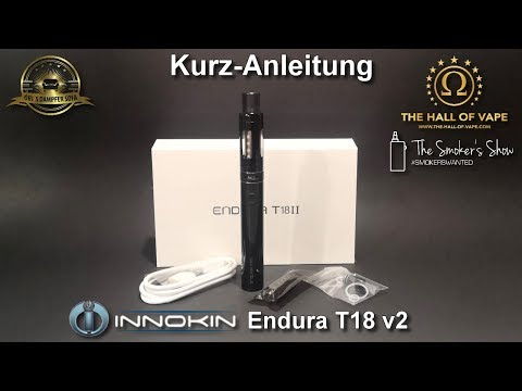 YouTube Video zu Innokin Endura T18II Starterset 1300 mAh 2.5 ml