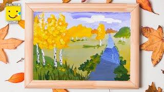 Смотреть онлайн Урок рисования красками для детей 5-9 лет