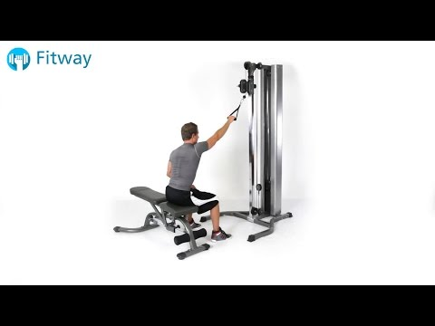 How To Do: Cable Row - Seated High Single Arm | Back Workout Exercise