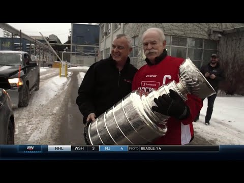 Hockey Day In Canada: Surprise visit to The Mill with the Stanley Cup