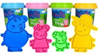 Play Doh Molds Learn Colors for Kids with Peppa Pig Family Compilation Play Dough and Surprise Toys