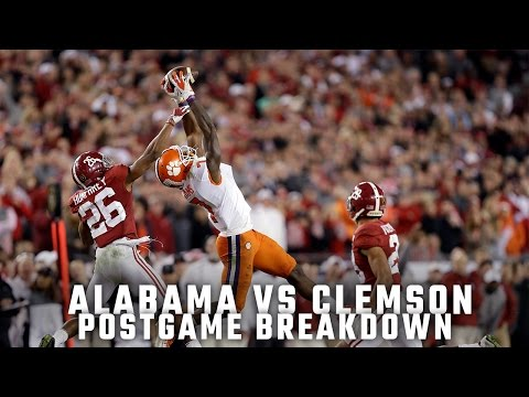 Postgame Report: Alabama vs. Clemson