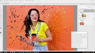 Пиксельный распад - эффект пикселизации в фотошоп