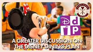A Greater Discussion Of The Disney Dining Plan | Disney Dining Show | 09/07/18