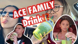 Trying the Ace Family Starbucks Drink! GOOD OR BAD?