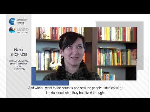 Video feedback of Nadiia  Shchadei, graduate of the Ukraine-Norway project