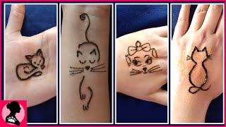 Cat Tattoo For Hand || Cute Henna Tattoos || Quick And Easy Mehndi Tattoos - New Tattoos 2020