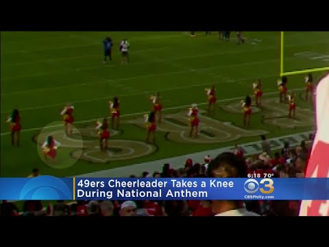Google News - 49ers cheerleader takes a knee - Overview e8e4dd67a