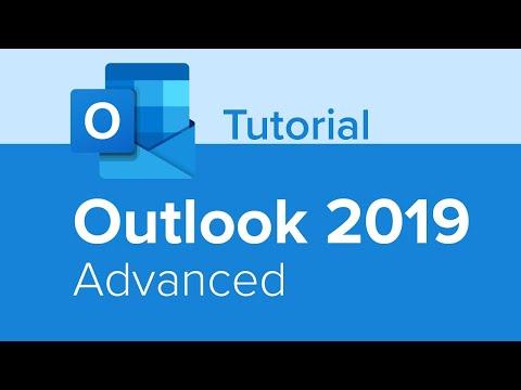 Outlook 2019 Advanced Tutorial - YouTube