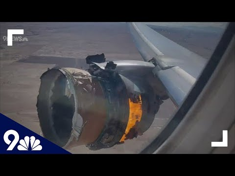 RAW: United Flight 328 engine catches fire