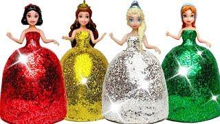 How To Make Play Doh Sparkle Dresses For Disney Princesses DIY