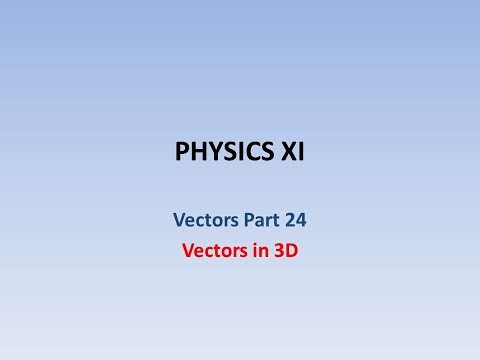 Vectors in 3D intro