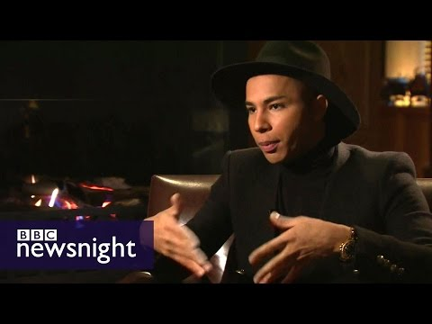, title : 'Olivier Rousteing: 'Fashion helped me define who I am' - Newsnight'