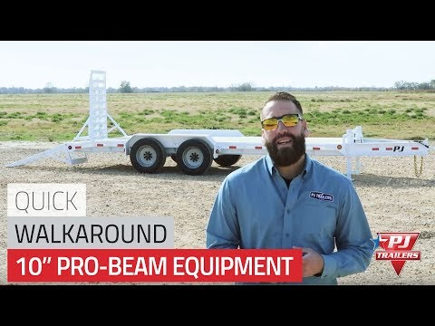 2021 PJ Trailers 10 in. Pro-Beam Equipment (H5) 30 ft. in Montezuma, Kansas - Video 1