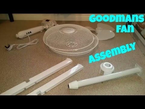 "Goodmans 16"" Oscillating Pedestal Fan Assembly"