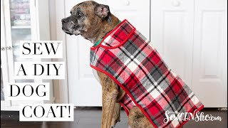 Sew A DIY Dog Coat - How To Draft The Pattern!