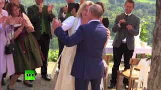 Putin dances, speaks German at Austrian FM's wedding