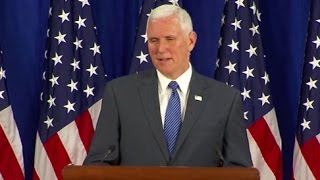 Mike Pence Full Press Conference: Thanks Pres. Obama, VP Biden | ABC News