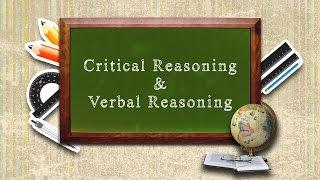 Critical Reasoning & Verbal Reasoning