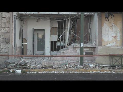 Ζημιές μετά απο έκρηξη στην πρόσοψη ναυτιλιακής εταιρίας