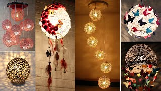 10 Jute Craft Lamp With Balloon | Home Decorating Ideas Handmade