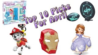 TTPM Top 10 Toys in April 2016