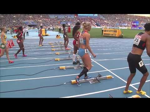 Final 100m. vallas femenino. Atletismo Cto. del Mundo Moscú 2013