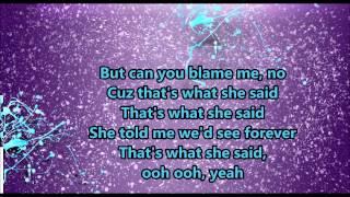 That's What She Said - Backstreet Boys (Lyrics)