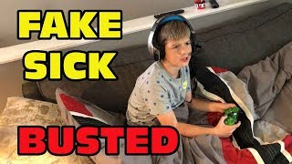Kid Temper Tantrum FAKING Sick To Play Season 6 Fortnite Instead Of Going To School - BUSTED