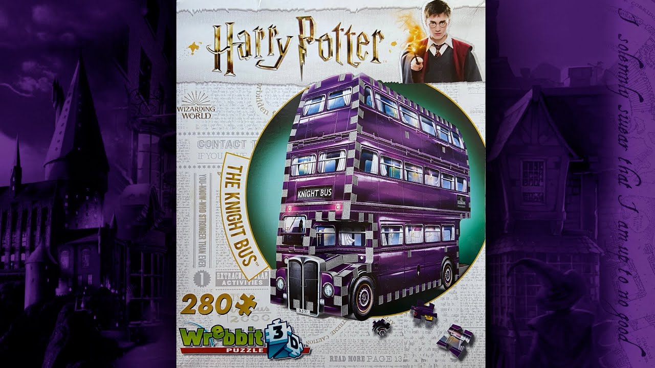 Wrebbit 3 D Harry Potter Knight Bus palapeli