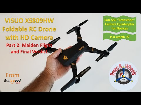 VISUO XS809HW Foldable RC Drone with HD Camera from Banggood - Part 2: Maiden Flight and Final Verdict